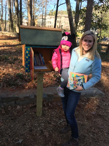 Dearborn Park's Little Free Library installation December 10, 2016