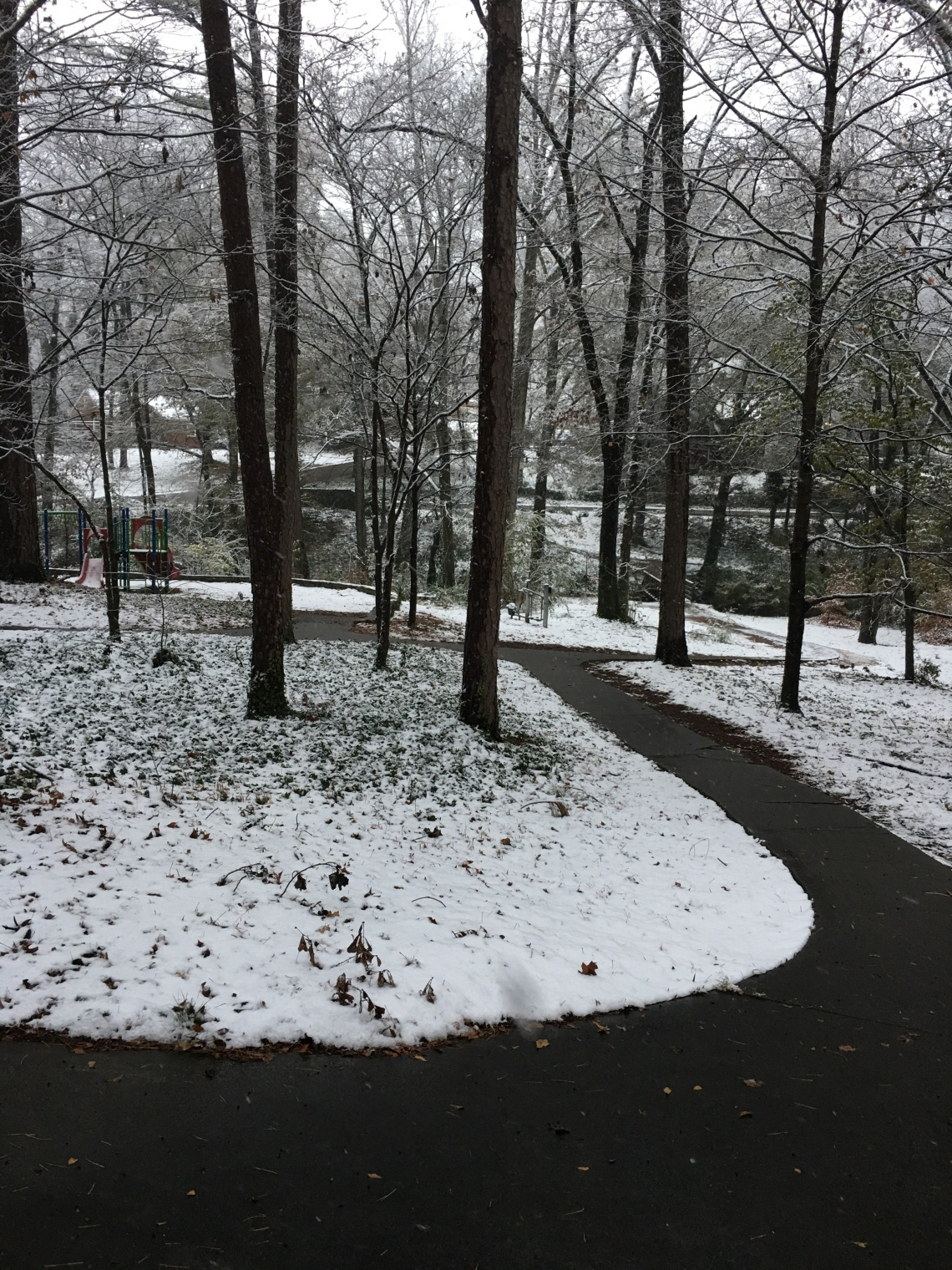 Dearborn Park December 9 2017 Snow Day Decatur Georgia Midway Woods