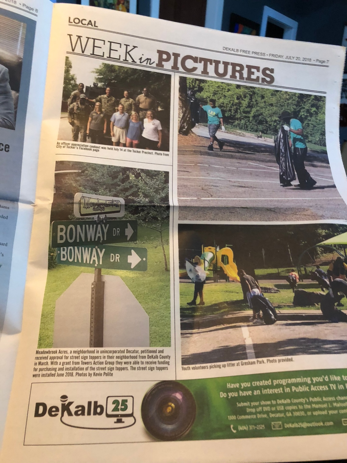 Meadowbrook Acres Street Sign Toppers Decatur Neighborhood